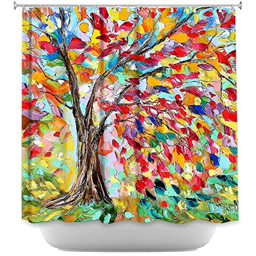Shower Curtain Artistic Designer from DiaNoche Designs by Karen Tarlton Unique, Cool, Fun, Funky, Stylish, Decorative Home Decor and Bathroom Ideas - Poetry of a Tree