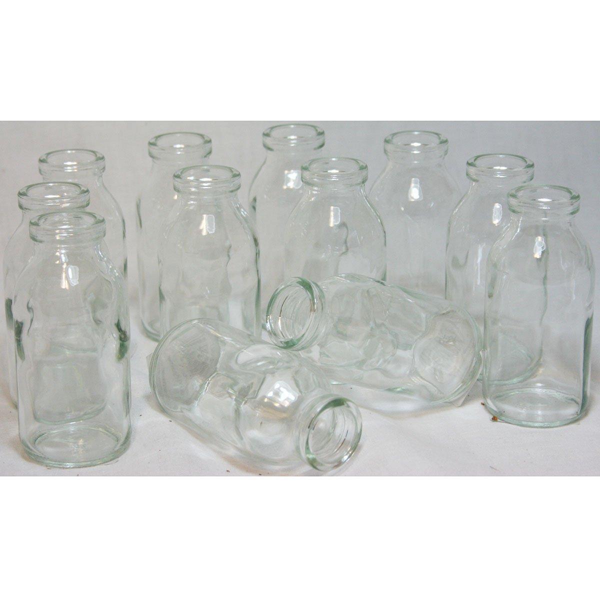 Glasfläschchen im Landhausstil, 12er