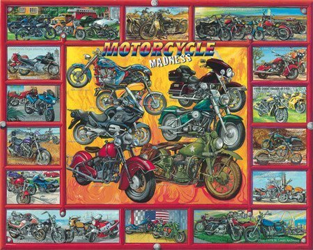 Motorcycle-Madness-1000-Piece-Puzzle-Artist-Ernest-O-Brown