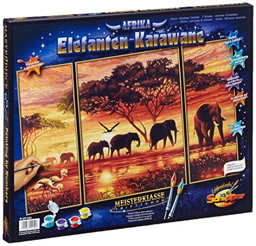 Schipper Elephant Caravan Paint-by-Number Kit