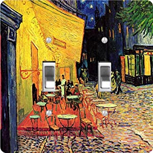 Rikki KnightTM Van Gogh Art The Café Terrace Design Double Toggle Light Switch Plate from Rikki Knight
