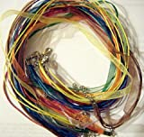 "10pcs Mixcolor Voile Ribbon Necklace Cord 18"" W/extender"