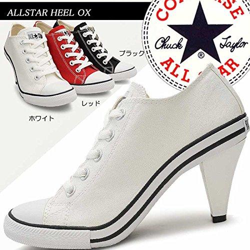 コンバース オールスター ヒール OX ハイ レディーススニーカー ヒールスニーカー 美脚 CONVERSE ALL STAR HEEL OX ブラック 23.5cm(USA4.5)