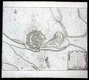 Freiburg im Breisgau Fortifikation Festung Stadt Plan Karte map Kupferstich