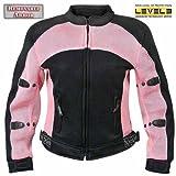 Xelement CF-508 Womens Black/Pink Mesh Armored Jacket