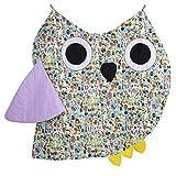 Bien! Mamá, Manta / alfombra gatear para interiores y exteriores con forma de búho, Multicolor (Gelb / Owl), 130 x 120 cm
