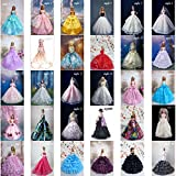 Barbie Doll Clothes Lovely Fancy Gowns Wedding Evening Party Ball Dress STYLE 26