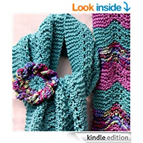 Spring Lace Scarf and Statement Flower Corsage Knitting Pattern