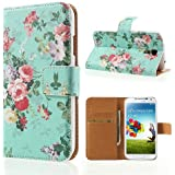 delightable24 Schutzh�lle Case Bookstyle SAMSUNG GALAXY S4 Smartphone - Flowers Edition