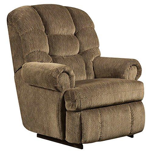 Flash Furniture AM-9930-7980-GG Big and Tall Capacity Gazette Microfiber Recliner, 350-Pound, Basil