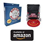 Bottle-Bullseye Official Starter Kit - FUN Indoor & Outdoor game similar to darts. Anyone can Play Almost Anywhere: parties, picnics, camping. Durable weatherproof target & bottles!