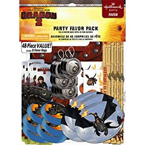 How to Train Your Dragon 2 - 48 Piece Party Favor Pack Party Supplies by Hallmark