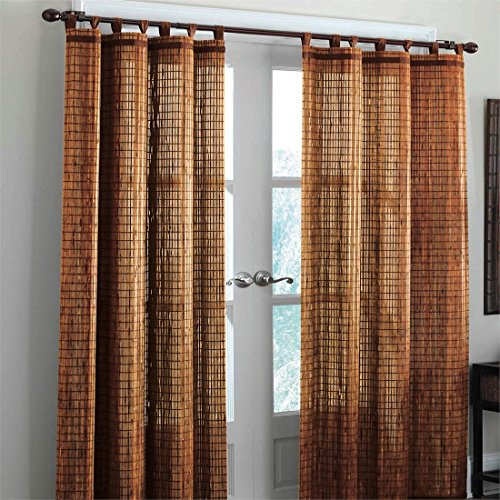 Bamboo curtain panel