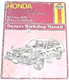 img - for Honda Accord CVCC 1977 thru 1978 Owners Workshop Manual book / textbook / text book
