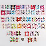 20 Pieces/pack Kids Pet Doggy Pup's Hair Head Flower Rubber Band Hair Bows for Small Puppy