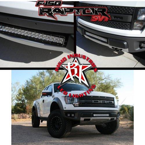 """Rigid 20"""" Led Light Bar- Ford F150 Raptor Lower Grille Kit"""