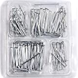 Assorted Sizes Metal Nails, 4 Commonly Used Sizes, Over 150 Pieces