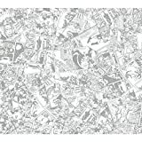 York Wallcoverings DS7834 Walt Disney Kids II Comic Wallpaper, Cream/Medium Grey