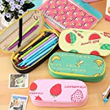 Katoot@ Korean stationery novelty fruits pencil case for girls big capacity school pencil pouch pen bag kids gift office school supply