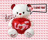 """Cute Her or His Valentines Day Gift Speaks """"I Love You"""" & Turns Red Soft Plush Teddy Bear"""