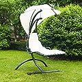 Outsunny Hängesessel Schwingliege Hängesitz Hängeliege Sonnenliege Hängeschaukel Hängematte von hergestellt für Outsunny - Gartenmöbel von Du und Dein Garten