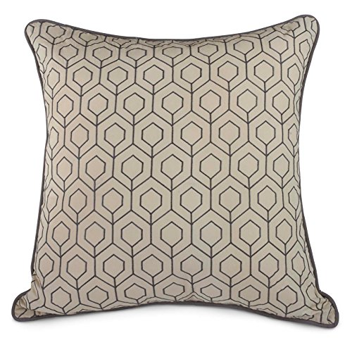 Brisbane 20 X 20 Square Honeycomb Toss Pillow Gray