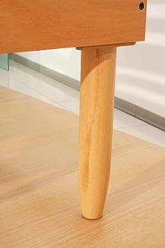 s sommier lattes en en bois de h tre et r glage manuel manuel orange 160x190 cm cuisine. Black Bedroom Furniture Sets. Home Design Ideas