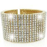 12 ROW 14k Gold Overlay HIP HOP Iced OUT Cz Bling Bracelet