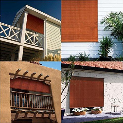 Coolaroo Exterior Cordless Roller Shade 6ft By 6ft Terra Cotta Home Garden Decor Window