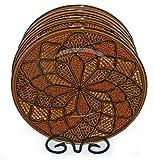 Le Souk Ceramique Dinner Plates, Set of 4, Honey Design