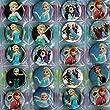 9 Frozen Badges, Individually Wrapped Elsa Badges Frozen Badge for Frozen Party Bag