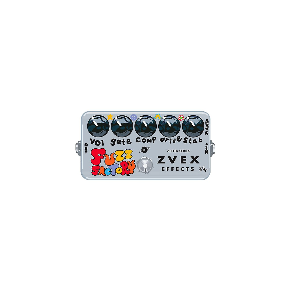 ZVex Vexter Fuzz Factory Guitar Effect Pedal nux metal core distortion stomp boxes electric guitar bass dsp effect pedal 2 metal hardcore sound true bypass