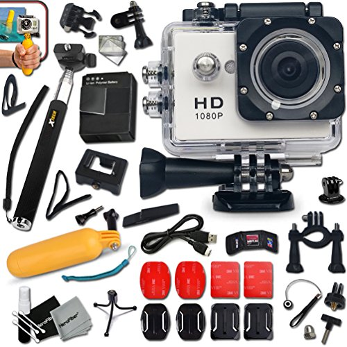 KoolCam-AC200-HD-1080p-Waterproof-ACTION-Camera-Camcorder-for-KIDS-and-Adults-with-a-Super-140-degree-Wide-angle-Lens-KIT-Includes-Handheld-Extendable-MONOPOD-Pole-Hermetically-Sealed-Floating-Bobber-