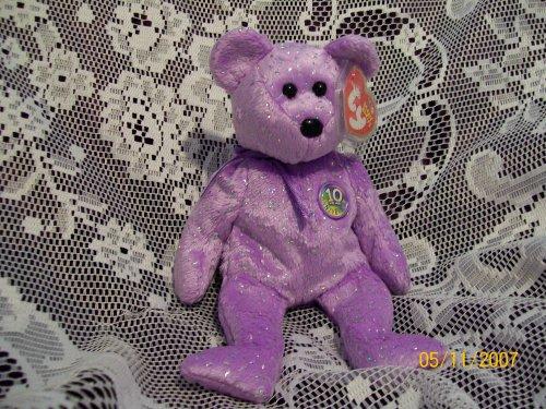 TY Beanie Baby - DECADE the Bear (Purple Version) - 1