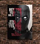 Deadpool Print Famous Movie Quotes Ar...