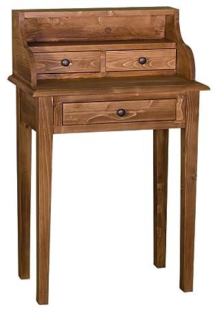 Casa Padrino escritorio estilo casa de campo con 3 cajones 65 x 40 x H. 102 cm - muebles de sala, colores:braun