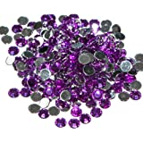 Pack of 1000 x Purple Crystal Flat Back Rhinestone Diamante Gems 4mm