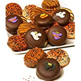 Gourmet Halloween Belgian Chocolate Covered OREO Cookies Gift Basket Tray- 12pc