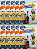 Minions Play Pack Grab and Go Coloring Book , Stickers and Crayons , Bundle of 10 Packs , Children's Party Favors, And Children's Stocking Stuffers