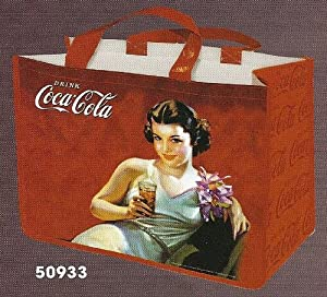 SAC CABAS SHOPPING PUBLICITE RETRO PIN UP COCA COLA - M933