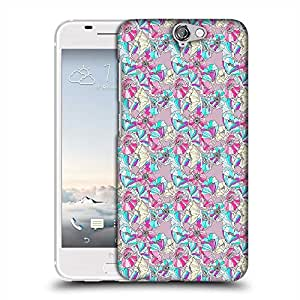 Snoogg flower pattern Designer Protective Back Case Cover For HTC one A9