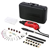 Rotary Tool Set Meterk Electric Grinder with 85pcs 6-Speed Variable Speed Electric Drill Grinding Rotary Tool Kit for Milling Polishing Engraving Sanding Sharpening Carving (Color: Rotary tool)