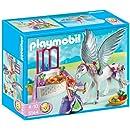 Playmobil - 5144 - Jeu de construction - Cheval ailé et coiffeuse de princesse