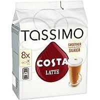 Tassimo Costa Latte coffee 16 discs 8 servings (Pack of 5)