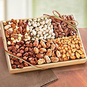 Golden State Fruit Savory and Sweet Deluxe Nut Gift Tray