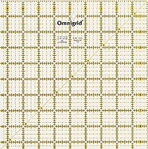 Omnigrid 4-1/2-Inch by 4-1/2-Inch Grid Ruler