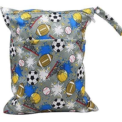 MSsmart (TM) Waterproof PUL Durable Designer Baby Cloth Diaper Laundry Wet and Dry Bags Multipurpose Storage Organizer Bag¡
