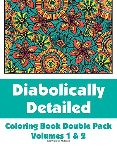 Diabolically Detailed Coloring Book Double Pack