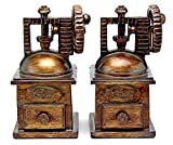 Decorative Bookends Antiques Style Coffee Beans Grinders Book ends for Coffee lovers