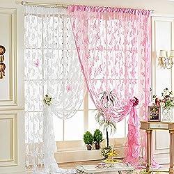 Imported Butterfly String Curtain Fringe Door Window Panel Room Divider Tassel White